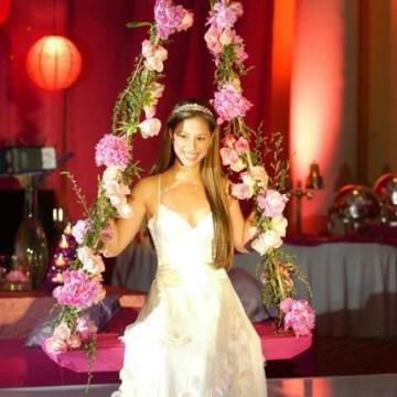 "Image: Fifteen-year-old Vivi Fortuño celebrating her ""quinceañero."""