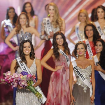 IMAGE: Miss Colombia, Paulina Vega, smiles after being crowned Miss Universe