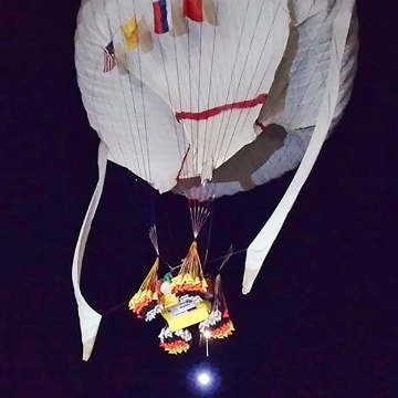 Image: Record-breaking helium-filled balloon