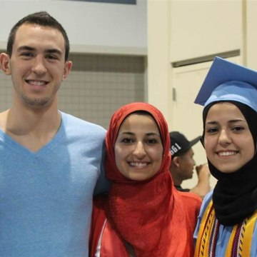 Deah Barakat, Yusor Abu-Salha, Razan Abu-Salha posted on Barakat's Facebook page on June 12, 2013.