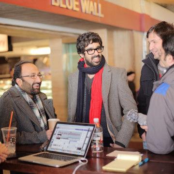 Image: UMass Amherst grad students Mohsen Jalali, Nariman Mostafavi and Yashar Faridat,