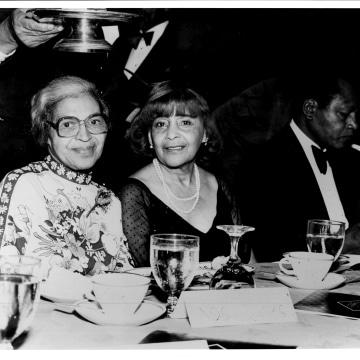 Rosa Parks, Ethel and Tom Brady at Urban League Affair.