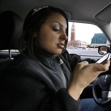 Image: Brandi Eadie, 16, texts and drives
