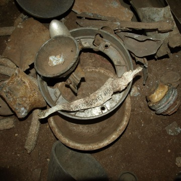 An example of the ordnance and scrap metal Suda and her team use to make their jewelry.