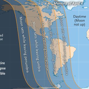 Image: Lunar eclipse map