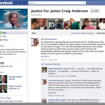 IMAGE: Facebook page honoring James Craig Anderson