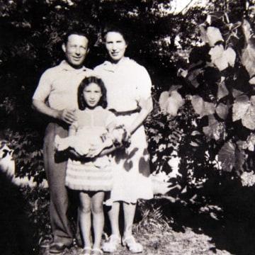 Image: Claudine Schwartz and her parents