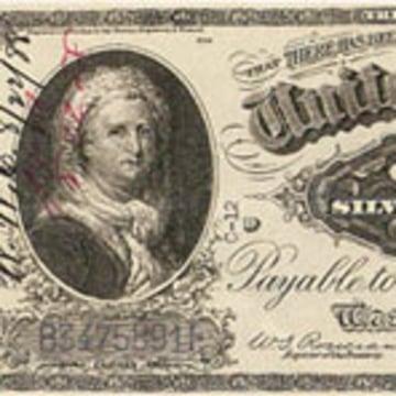 IMAGE: 1886 $1 silver certificate featuring Martha Washington