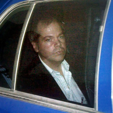 Image: File photo of Hinckley Jr. arriving at U.S. District Court in Washington
