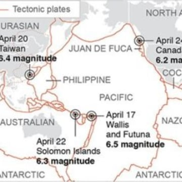 Image: Recent earthquakes