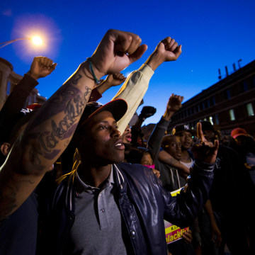 Image: Protesters gather in Baltimore