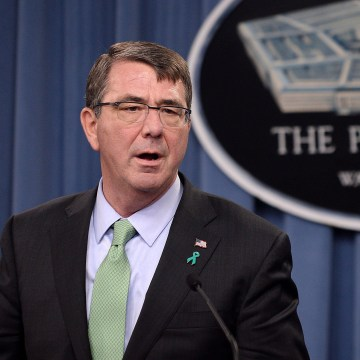 Image: Defense Secretary Ashton Carter Gives Briefing On Sexual Assault Annual Report