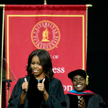 michele obamas 1985 thesis Two hundred fifty years of slavery mar 15, 2009 a michelle obama robinson thesis princeton university 1985 timeline of michelle obama's life.