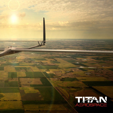 Image: Artist rendering of a Solara 50 drone from Google's Titan Aerospace