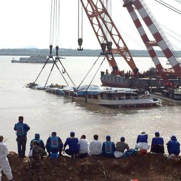 Image: CHINA - YANGTZE - ACCIDENT - SHIP