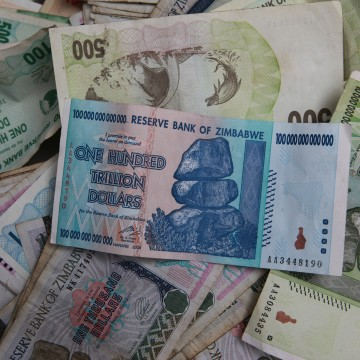 Image: Zimbabwean notes of various denominations