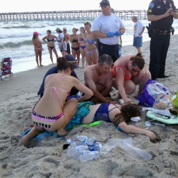 Image: Aftermath of N.C. shark attack