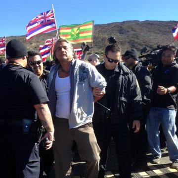 Image: Mauna Kea arrest