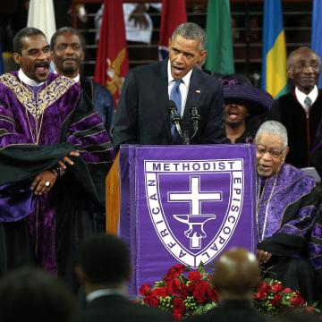 Image: President Obama Joins Mourners At Funeral Of Rev. Clementa Pinckney
