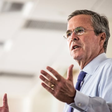 Image: Jeb Bush Tours Pharmaceutical Company In South Carolina