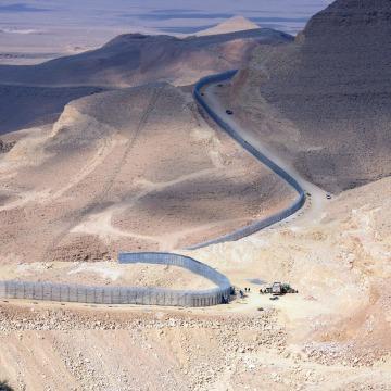 Image: Israeli border fence