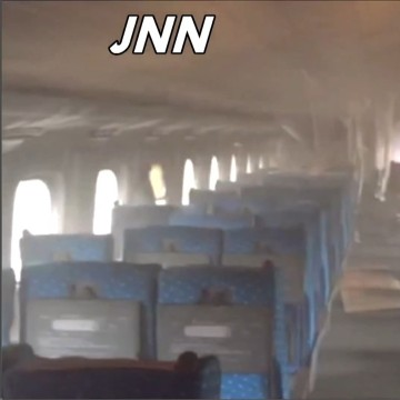 Image: Japn train fire incident