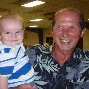 Image: Robert Sobieray, shown with his grandson Will, before unnecessary cancer treatments made his teeth fall out.