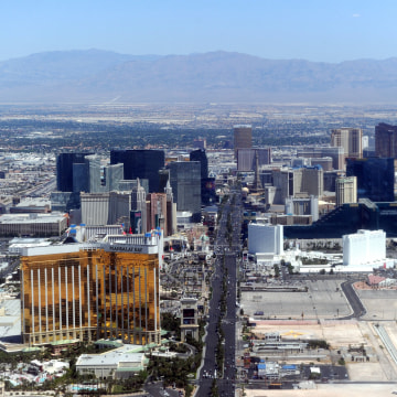 Image: Aerial view of the Las Vegas boulevard