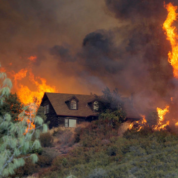 Image: Wildfire Grows Rapidly In California's Lake County