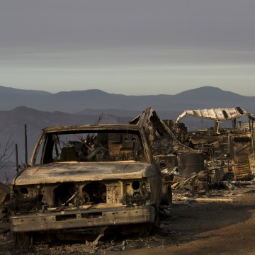 Image: Properties destroyed by the Rocky Fire is seen near Clearake, California