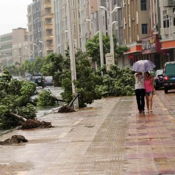 Image: CHINA-TYPHOON-SOUDELOR