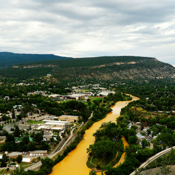 Image: Mine water Spill Creeps Its Way Into Animas River