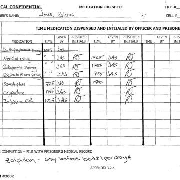 medication log sheet