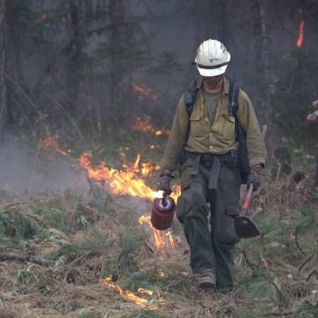 IMAGE: Stouts Creek fire in Oregon