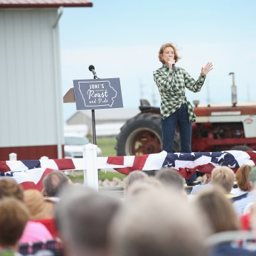 Republican Presidential Hopefuls Attends Sen. Joni Ernst's Inaugural Roast And Ride Event