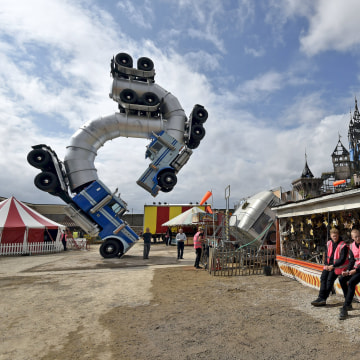 Image: General view of 'Dismaland', a theme park-styled art installation by British artist Banksy, at Weston-Super-Mare in southwest England