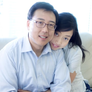 2RedBeans co-founder Q Zhao with her husband. The couple met on 2RedBeans in 2013.