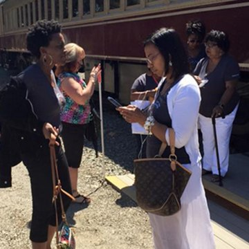 Image: Lisa Renee Johnson shot video of members of her book club being escorted off the Napa Valley Wine Train.