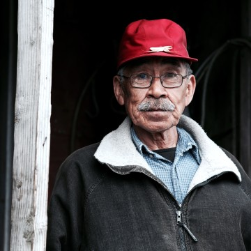 Image: Clifford Weyiouanna, one of the elders in Shishmaref