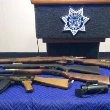IMAGE: Weapons seized at Fresno student's home