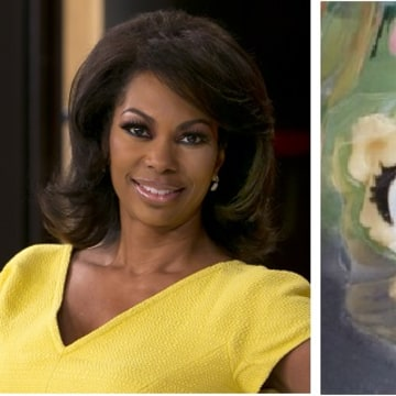 IMAGE: Fox News anchor Harris Faulkner and Hasbro toy character Harris Faulkner