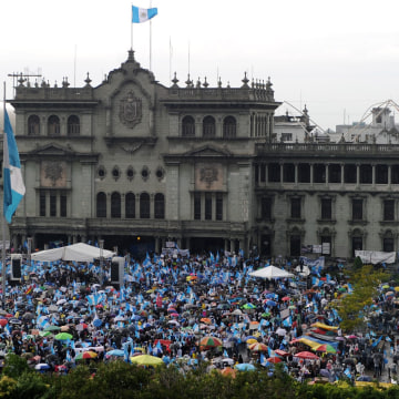 Image: GUATEMALA-POLITICS-CORRUPTION-PROTEST-FILES