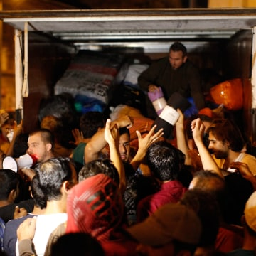 Image: Migrants in Budapest