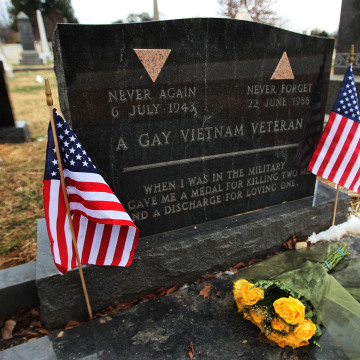 Image: Flowers Placed At Gravesite of Sgt.Leonard Matlovich,