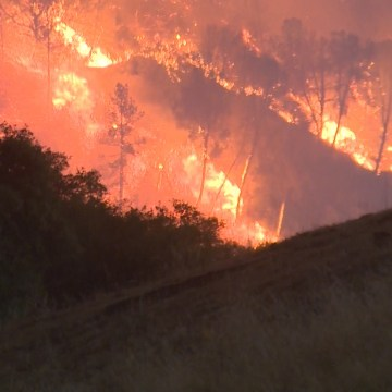 Image: The Butte Fire broke out east of the town of Jackson