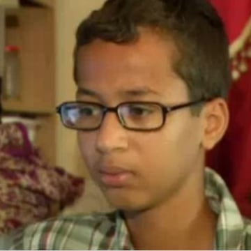 Image: Ahmed Mohamed, 14, talks to NBC DFW