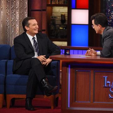 Image: (L) Senator Ted Cruz Stephen Colbert