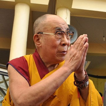 Image: Dalai Lama's teaching session at the Tsuglagkhang temple in Dharamsala