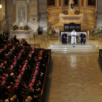 Image: Pope Francis, Charles Chaput, Timothy Senior