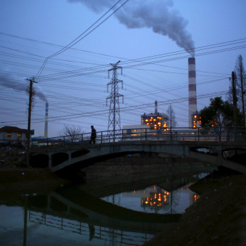 Image: Smoke rises from chimneys of a thermal power plant in Shanghai